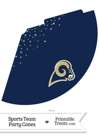 Rams Party Cone Printable from PrintableTreats.com