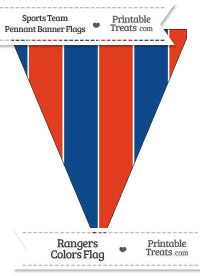 Rangers Colors Pennant Banner Flag from PrintableTreats.com