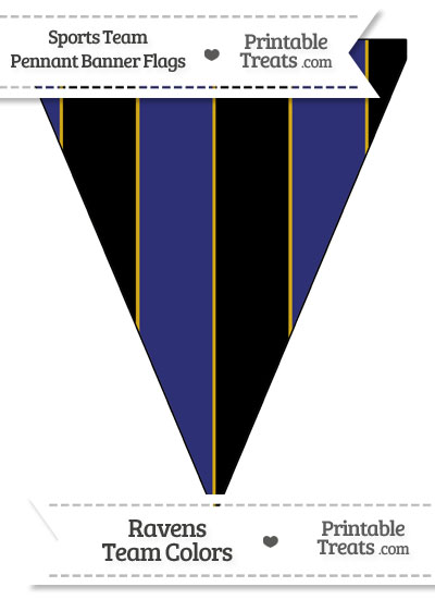 Ravens Colors Pennant Banner Flag from PrintableTreats.com
