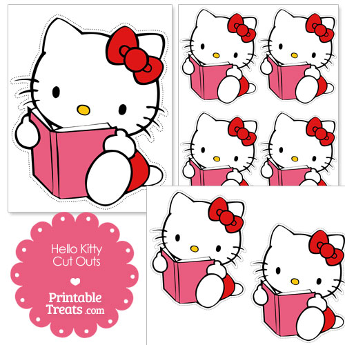 reading Hello Kitty cut outs