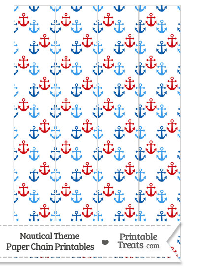 Red and Blue Anchors Paper Chains from PrintableTreats.com