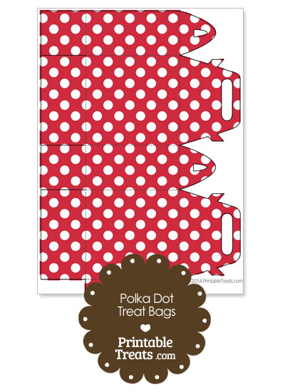 Red and White Polka Dot Treat Bags to Print from PrintableTreats.com