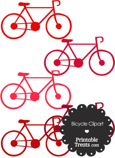 Red Bicycle Clipart from PrintableTreats.com