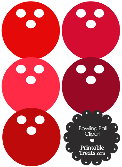 Red Bowling Ball Clipart from PrintableTreats.com