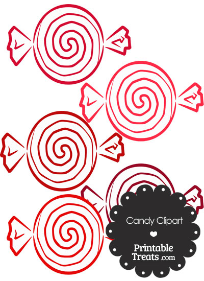 Red Candy Clipart from PrintableTreats.com