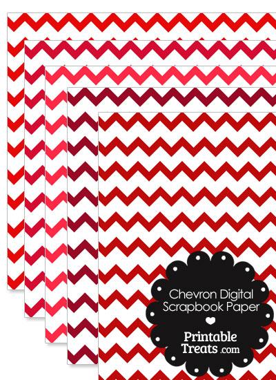 Red Chevron Digital Scrapbook Paper from PrintableTreats.com