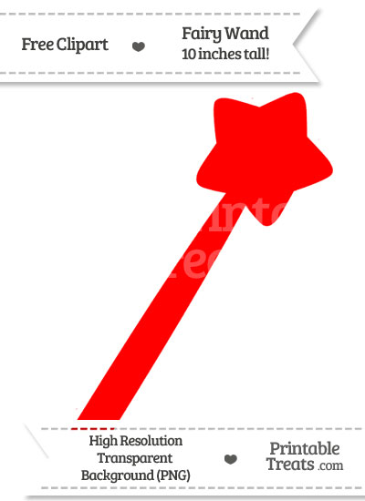 Red Fairy Wand Clipart from PrintableTreats.com