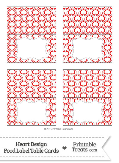 Red Heart Design Food Labels from PrintableTreats.com