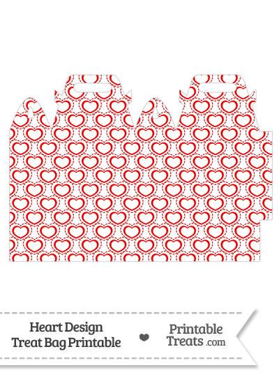 Red Heart Design Treat Bag from PrintableTreats.com