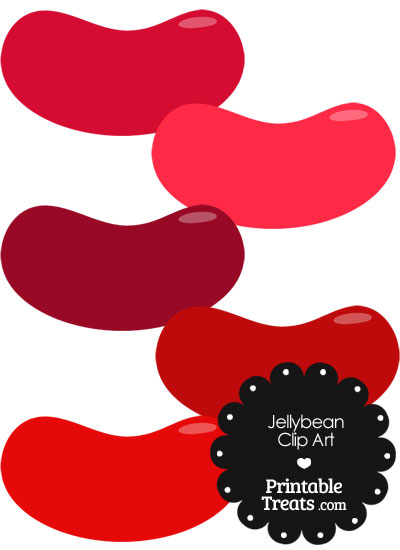 Red Jellybean Clipart from PrintableTreats.com