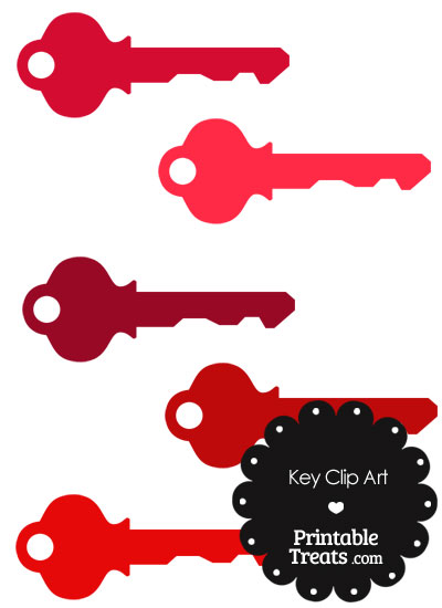 Red Key Clipart from PrintableTreats.com