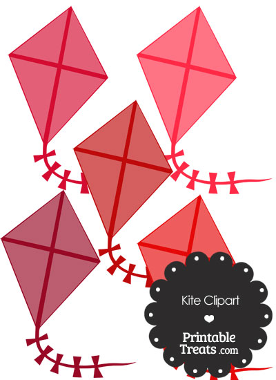 Red Kite Clipart from PrintableTreats.com