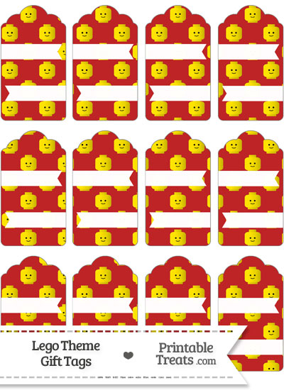 Red Lego Theme Gift Tags from PrintableTreats.com