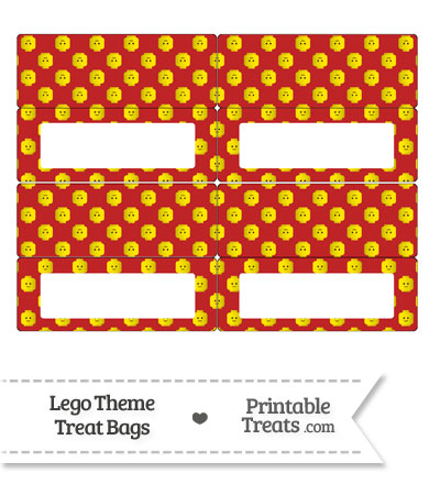 Red Lego Theme Treat Bag Toppers from PrintableTreats.com