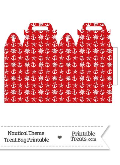 Red Nautical Treat Bag from PrintableTreats.com