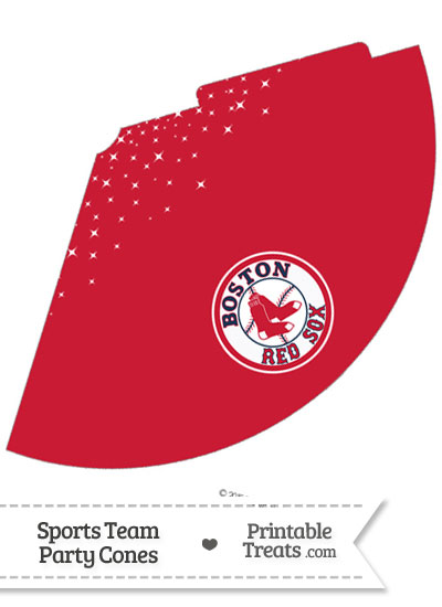 Red Sox Party Cone Printable from PrintableTreats.com