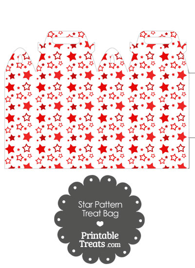 Red Star Pattern Treat Bag from PrintableTreats.com