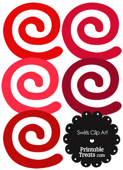 Red Swirls Clipart from PrintableTreats.com