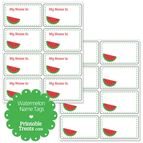 red watermelon name tags