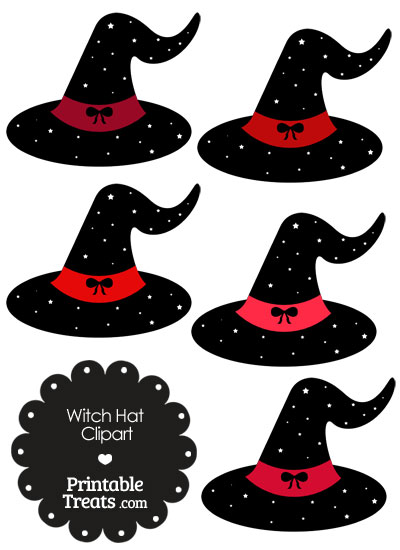 Red Witch Hat Clipart from PrintableTreats.com