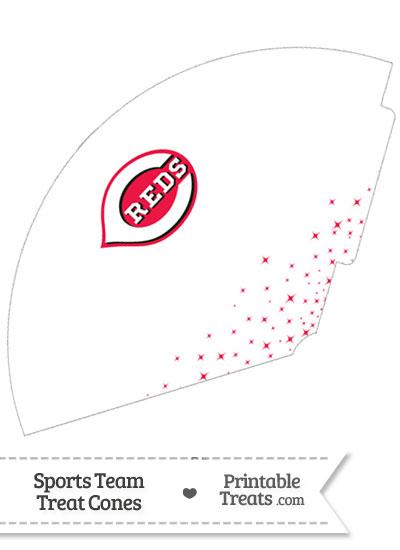 Reds Treat Cone Printable from PrintableTreats.com