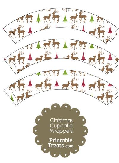 Reindeer Cupcake Wrappers from PrintableTreats.com