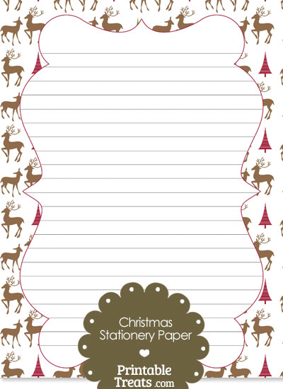 Reindeer Stationery Paper from PrintableTreats.com