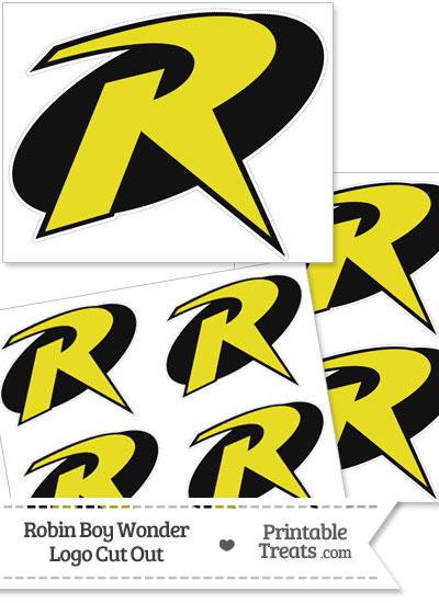 Robin Boy Wonder Logo Cut Out from PrintableTreats.com