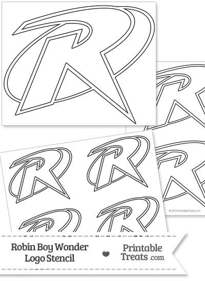 Robin Boy Wonder Symbol Stencil from PrintableTreats.com