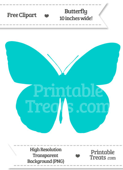 Robin Egg Blue Butterfly Clipart from PrintableTreats.com