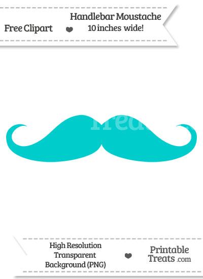 Robin Egg Blue Handlebar Moustache Clipart from PrintableTreats.com