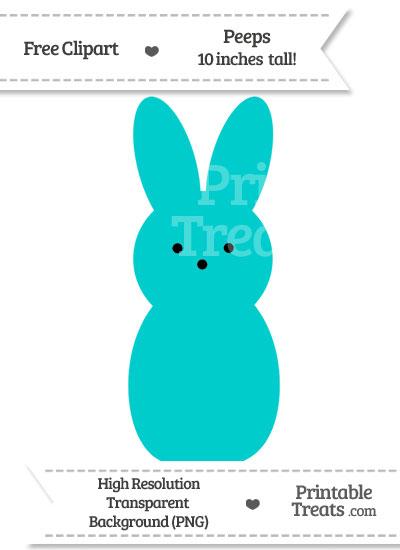 Robin Egg Blue Peeps Clipart from PrintableTreats.com