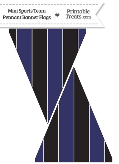 Rockies Colors Mini Pennant Banner Flags from PrintableTreats.com