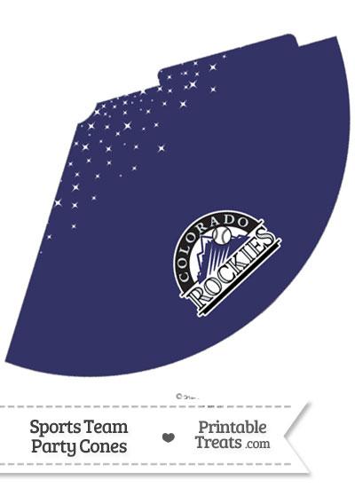 Rockies Party Cone Printable from PrintableTreats.com