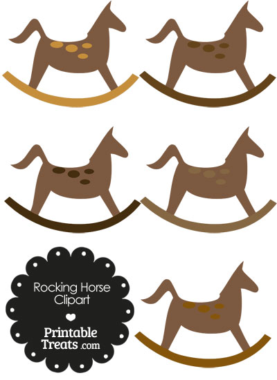 Rocking Horse Clipart with Brown Dots from PrintableTreats.com