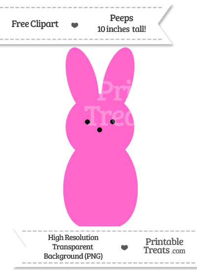 Rose Pink Peeps Clipart from PrintableTreats.com