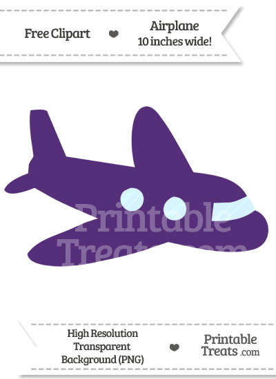 Royal Purple Airplane Clipart from PrintableTreats.com