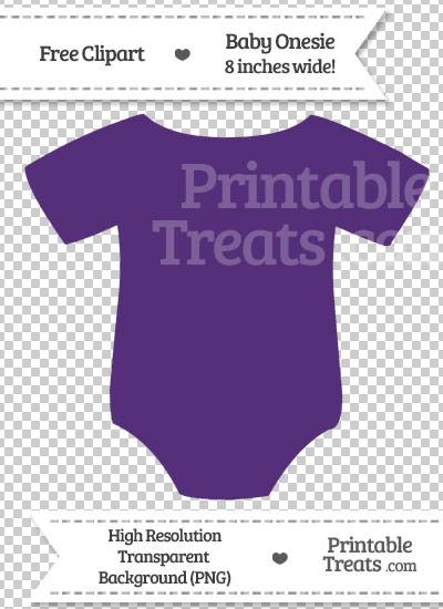 Royal Purple Baby Onesie Clipart from PrintableTreats.com
