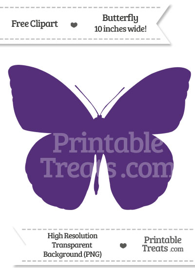 Royal Purple Butterfly Clipart from PrintableTreats.com