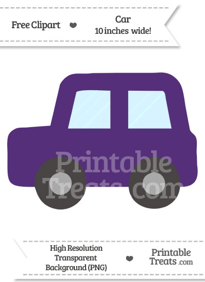 Royal Purple Car Clipart from PrintableTreats.com