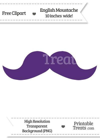 Royal Purple English Mustache Clipart from PrintableTreats.com