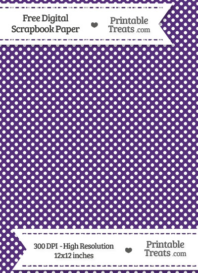 Royal Purple Raised Mini Polka Dots Digital Paper from PrintableTreats.com