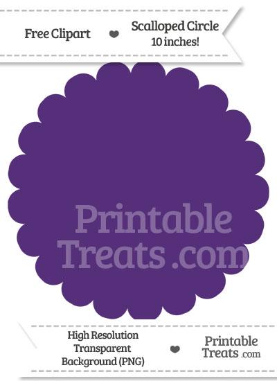 Royal Purple Scalloped Circle Clipart from PrintableTreats.com