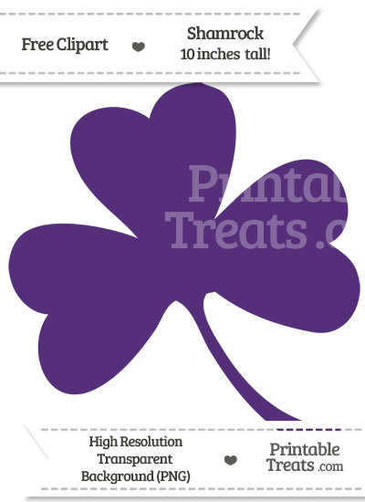 Royal Purple Shamrock Clipart from PrintableTreats.com