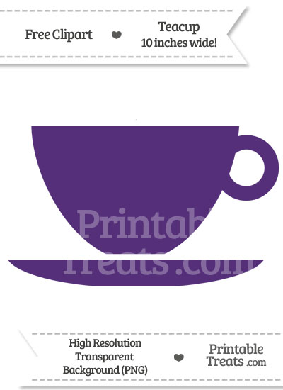 Royal Purple Teacup Clipart from PrintableTreats.com