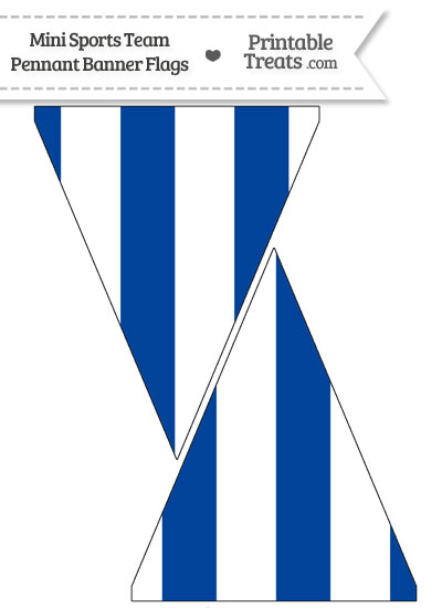 Royals Colors Mini Pennant Banner Flags from PrintableTreats.com