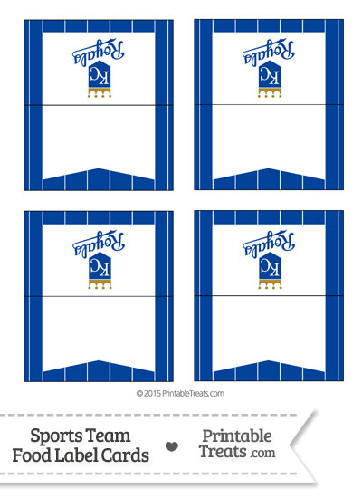 Royals Food Label Buffet Cards from PrintableTreats.com