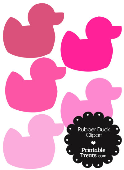 Rubber Duck Clipart in Shades of Pink from PrintableTreats.com