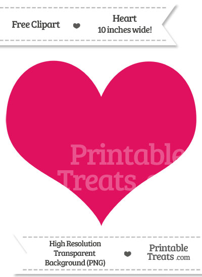 Ruby Pink Heart Clipart from PrintableTreats.com