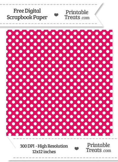 Ruby Pink Polka Dot Digital Paper from PrintableTreats.com